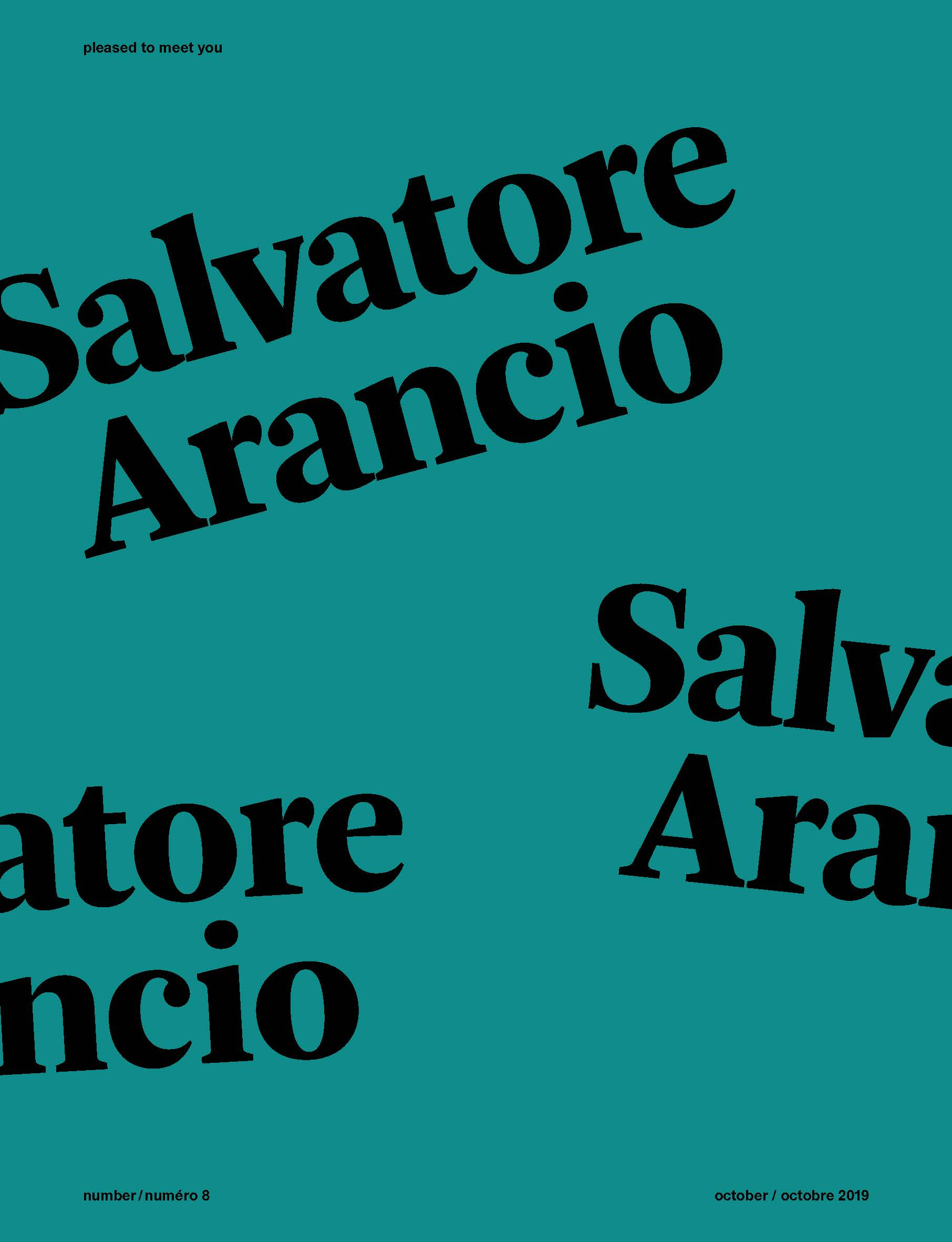 Pleased to meet you 8 - Salvatore Arancio  - Order now